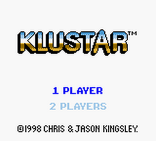 Klustar title screenshot