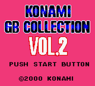 Konami GB Collection Vol.2 title screenshot