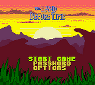 Land Before Time, The title screenshot