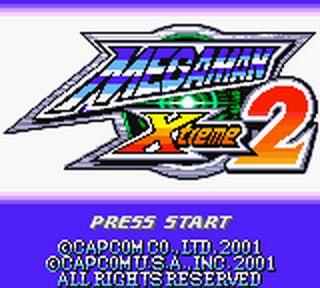 Mega Man Xtreme 2 title screenshot