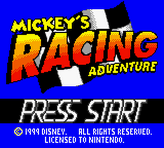 Mickey's Racing Adventure title screenshot