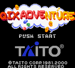 Qix Adventure title screenshot