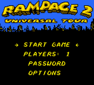 Rampage 2 - Universal Tour title screenshot