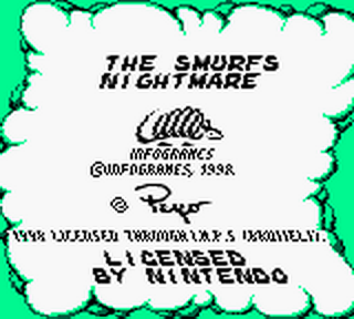 Smurfs Nightmare, The title screenshot