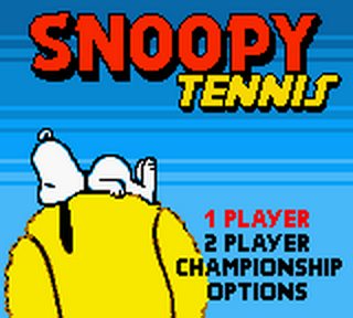 Snoopy Tennis title screenshot