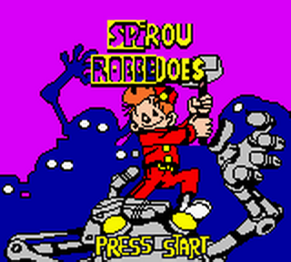 Spirou Robbedoes - The Robot Invasion title screenshot