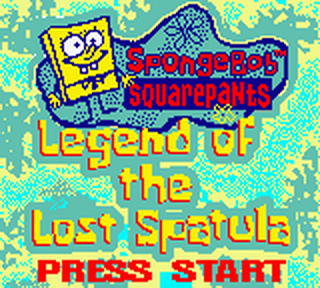 SpongeBob SquarePants - Legend of the Lost Spatula title screenshot