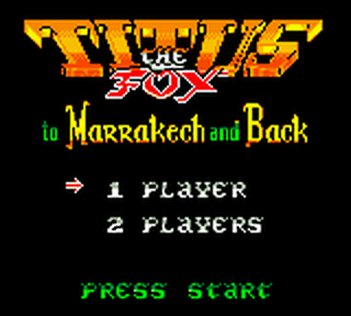 Titus the Fox to Marrakech and Back title screenshot