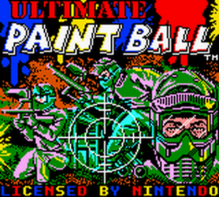 Ultimate Paint Ball title screenshot