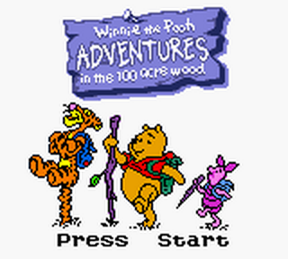 Winnie the Pooh - Adventures in the 100 Acre Wood title screenshot