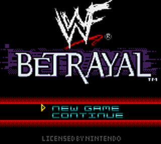 WWF Betrayal title screenshot