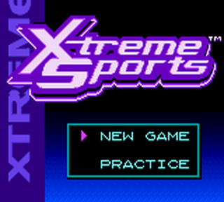 Xtreme Sports title screenshot