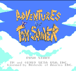 Adventures of Tom Sawyer title screenshot