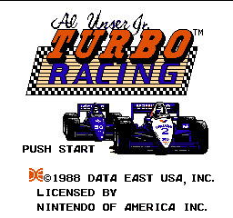 Al Unser Jr. Turbo Racing title screenshot