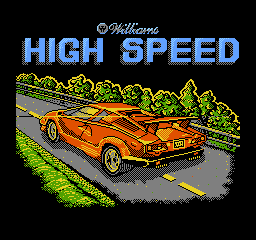 High Speed title screenshot