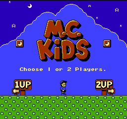 M.C. Kids title screenshot