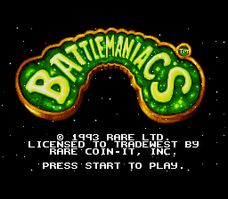 Battletoads in Battlemaniacs title screenshot