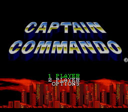 Captain Commando title screenshot