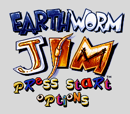 Earthworm Jim title screenshot