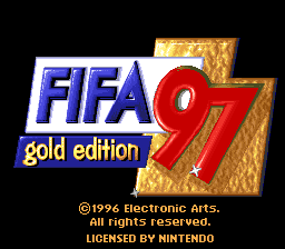 FIFA '97 - Gold Edition title screenshot