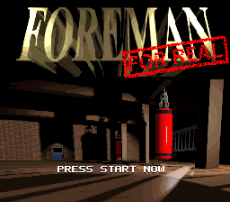 Foreman for Real title screenshot