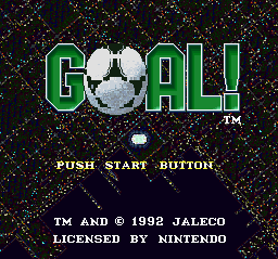 Goal! title screenshot