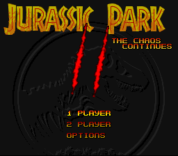 Jurassic Park Part 2 - The Chaos Continues  title screenshot