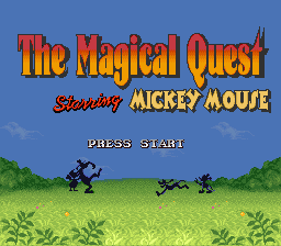 Magical Quest Starring Mickey Mouse, The title screenshot