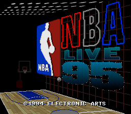 NBA Live' 95 title screenshot