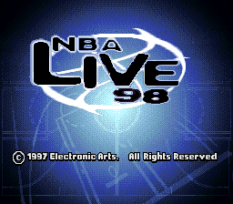 NBA Live' 98 title screenshot