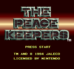 Peace Keepers, The title screenshot
