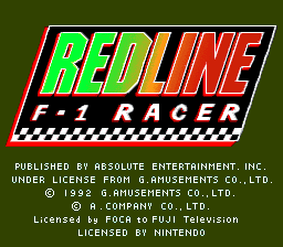 Redline F-1 Racer title screenshot