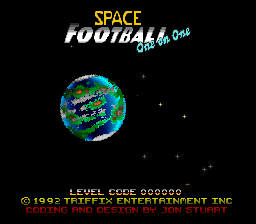Space Football - One on One title screenshot