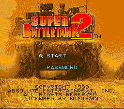 Super Battletank 2 title screenshot
