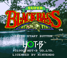 Super Black Bass title screenshot