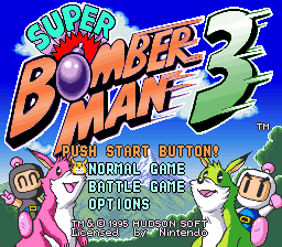 Super Bomberman 3 title screenshot
