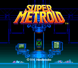 Super Metroid title screenshot