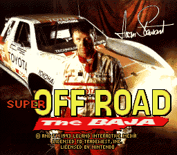 Super Off Road - The Baja title screenshot