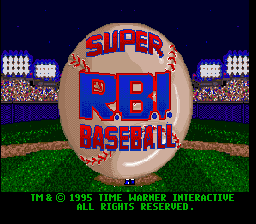Super R.B.I. Baseball title screenshot