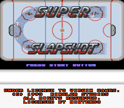 Super Slap Shot title screenshot
