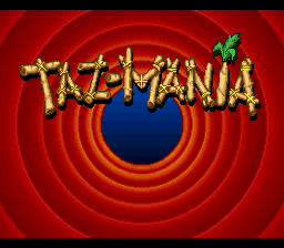 Taz-Mania title screenshot
