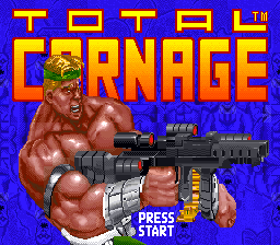 Total Carnage title screenshot