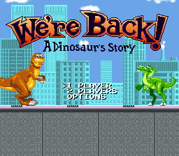 We're Back! - A Dinosaur's Story title screenshot