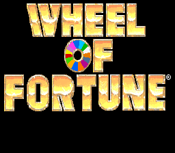 Wheel of Fortune title screenshot