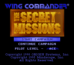 Wing Commander - The Secret Missions title screenshot