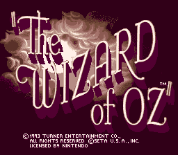 Wizard of Oz, The title screenshot