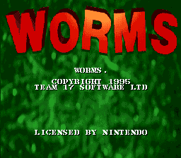 Worms title screenshot