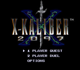 X-Kaliber 2097 title screenshot