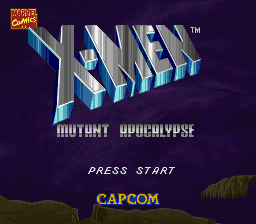 X-Men - Mutant Apocalypse title screenshot