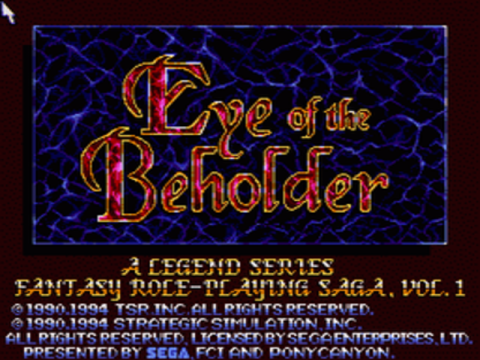 Eye of the Beholder -  Advanced Dungeons & Dragons title screenshot